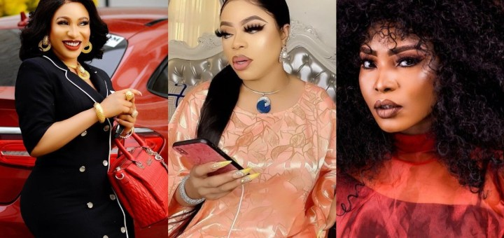 """""""I don't exchange words with someone that will reduce my IQ"""" - Tonto Dikeh says amid Halima Abubakar and Bobrisky's drama"""