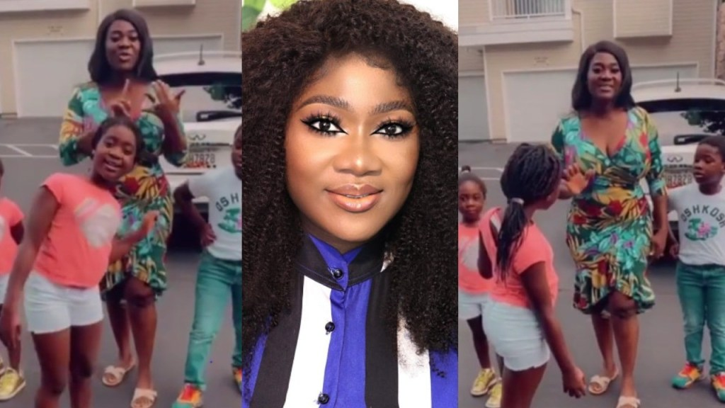 'We Scatter The House'- Mercy Johnson Says As She Playing Very Rough With Her Children