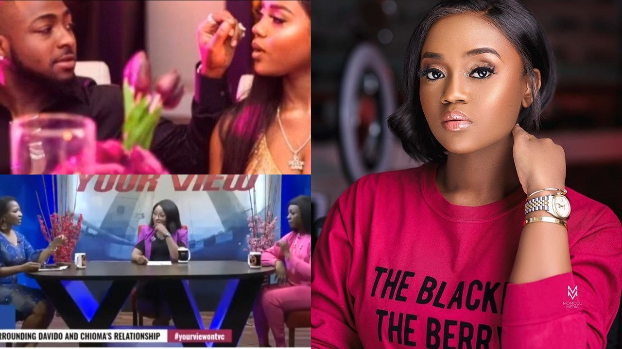 """""""God please don't give me children that don't have sense"""" Host says live on TV while reacting to Chioma leaving school to be with Davido (Video)"""