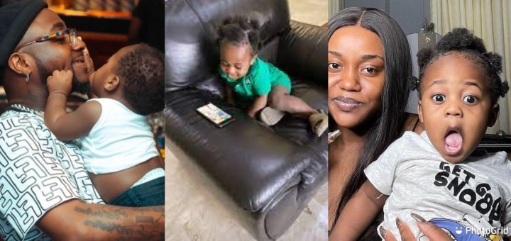 Davido's shares video of him playing with his son Ifeanyi (Video)
