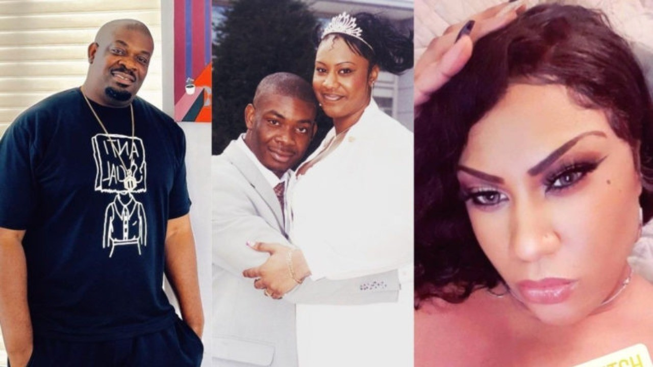 Sometimes we need a full picture - Don Jazzy's ex-wife Michelle Jackson answers question on being taller than him in their wedding photo