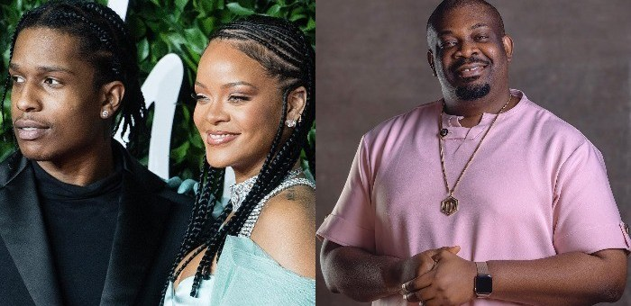 Don Jazzy reacts as A$AP Rocky confirms being in a relationship with Rihanna (Video)