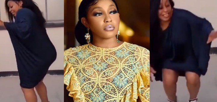 Actress Rita Dominic shows off her South African dance steps (Video)