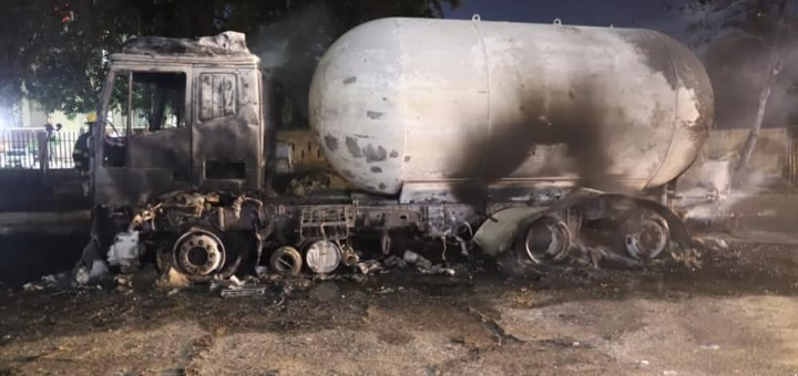 Many injured as Gas Tanker Explodes in Ikeja (Photos)