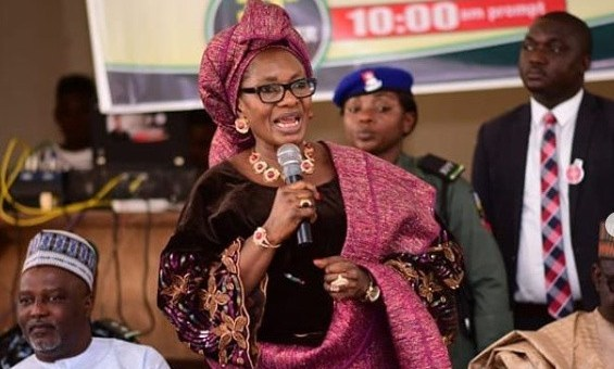 Minister of Women Affairs, Pauline Tallen, accuses Nigerian Entertainers of promoting abuse of women's bodies