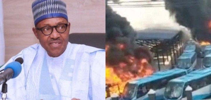 After they burnt buses I told Sanwo-Olu to tell Lagosians to walk - Buhari