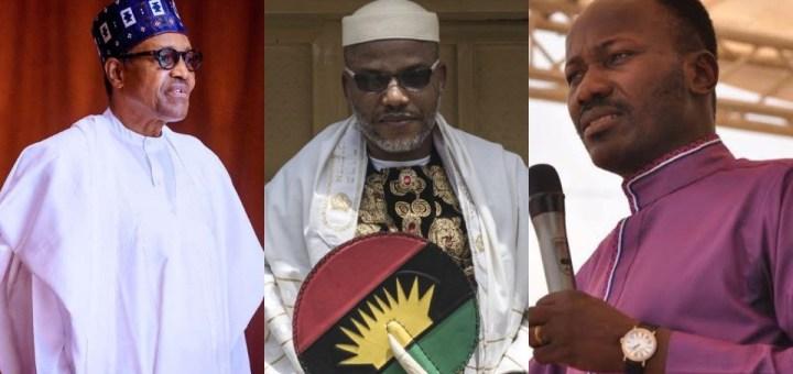 IPOB has God - Apostle Suleiman to Buhari; Nnamdi Kanu reacts