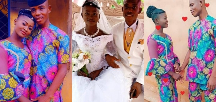 """""""We did as we can without going into debts"""" - Nigerian man says as he shares photos from his low-key wedding"""