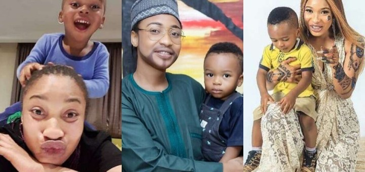 """Single mother, Tonto Dikeh celebrates herself on """"Happy Father's Day"""""""