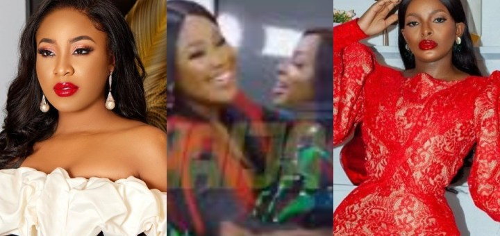 #BBNaija Reunion: Moment Wathoni and Erica settled their differences with a hug (Video)