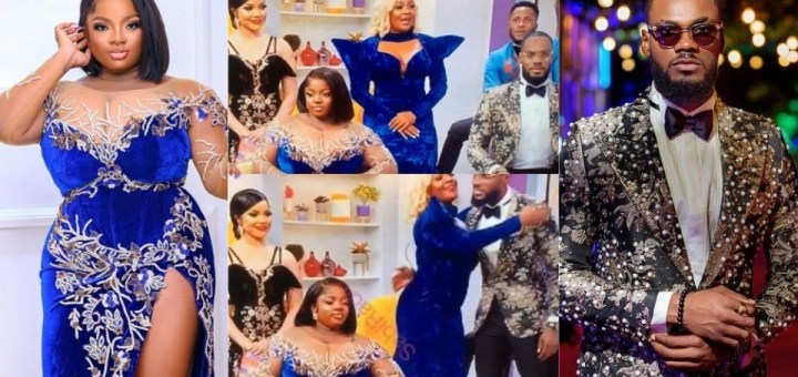 #BBNaija Reunion: Moment Prince ignored Dorathy as he greets other Housemates at the Reunion (Video)