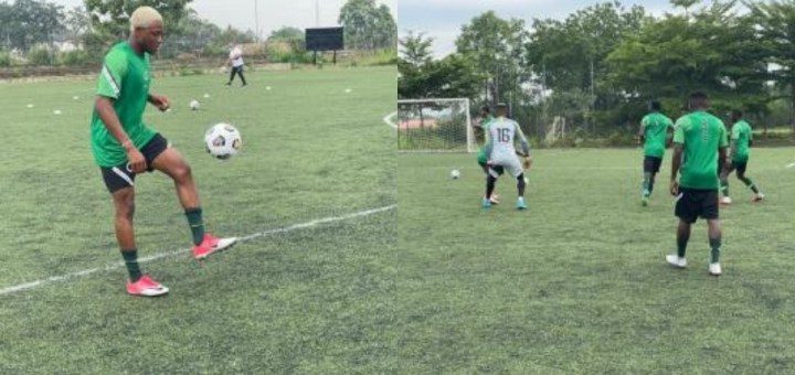 Home-based Super Eagles players commence preparation for Mexico friendly (Photos)