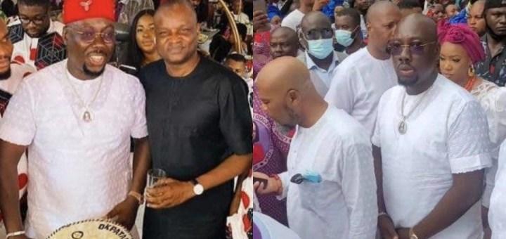 DCP Abba Kyari poses with Obi Cubana at his mother's burial (Photos)