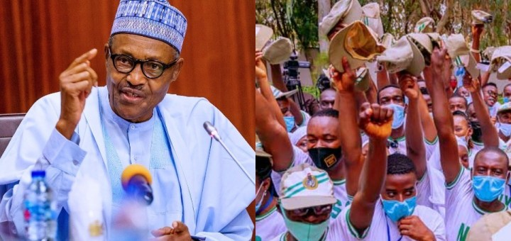 'It's better Nigeria remains united' - President Buhari tells youth Corps members