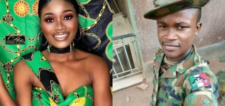 Solider allegedly Rapes, Murders his girlfriend of 5 years over alleged Cheating