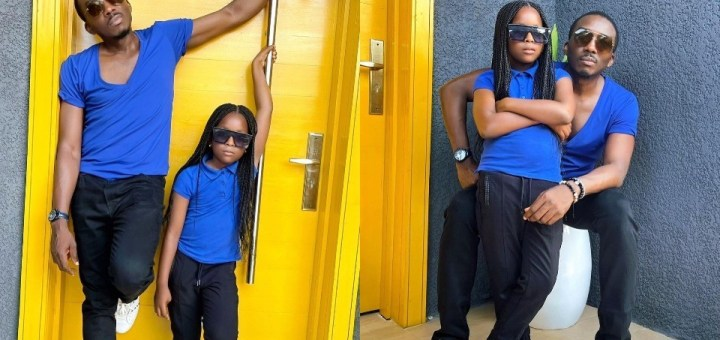 """""""I never wanted a girl child"""" - Bovi reveals as he poses with his daughter in matching outfits"""