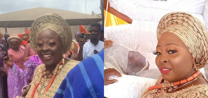 Photos and videos from the funeral ceremony of OAP, Lolo's mum