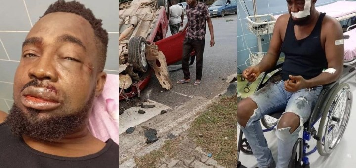 Rapper, Mr Raw survives Ghastly Motor Accident (Photos, Video)