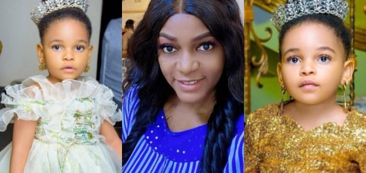 Actress Queen Nwokoye celebrates daughter Oluchi on her 3rd birthday