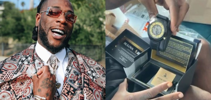 """""""Odogwu you bad"""" - Burnaboy ecstatic as he takes delivery of his Grammy watch (Video)"""