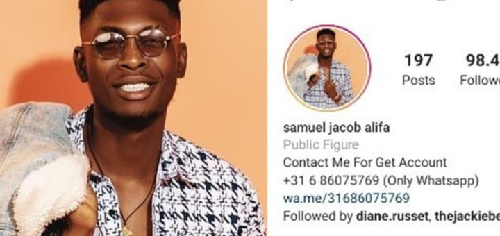 #BBNaija 2021: Hacker takes over Sammie's IG account with 98K followers demands N360K payment