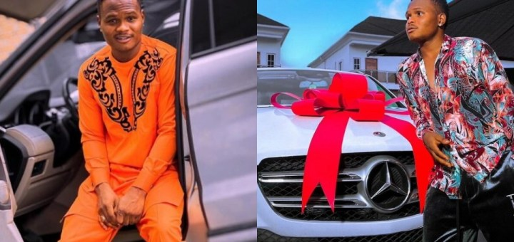 Comedian Oluwadolarz buys himself a beatiful Benz. (Photo)