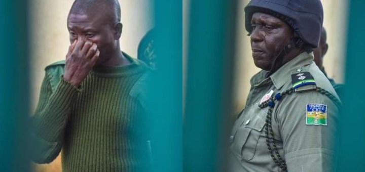 Plateau Attack: Two mobile policemen unable to hold back tears as bodies of victims were displayed at Government House