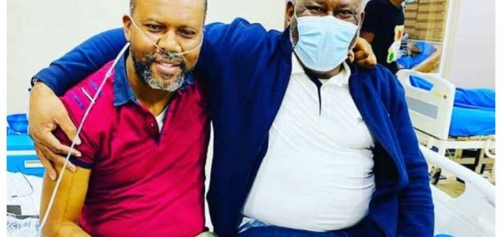Pete Edochie's son spent N6million treating COVID-19 after it damaged 80% of his Lungs