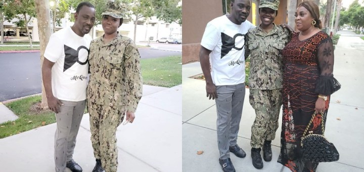 Pasuma visits daughter who is a US Naval officer at her base in California (Photos, Video)