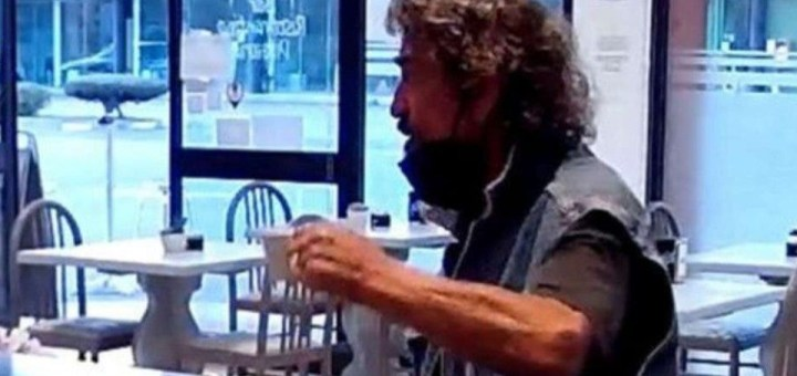 Italian man seen drinking coffee in a bar moments before killing his Nigerian wife (Video)