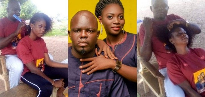 Love is sweet! Nigerian man shares lovely photos of himself helping his fiancé loosen her hair