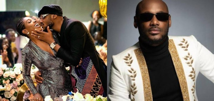 Singer 2baba celebrates his birthday with a loved up picture with his wife, Annie Idibia