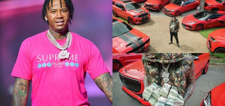 """""""I had nothing but Fs on my report card. Everything is possible"""" - Rapper Moneybagg Yo, writes as he flaunts his luxury cars and money"""