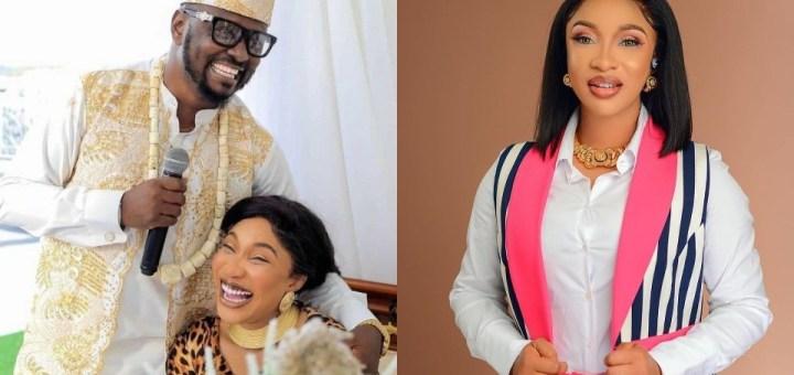 Wahala! Tonto Dikeh unfollows her lover, Prince Kpokpogri on Instagram following Cheating Saga