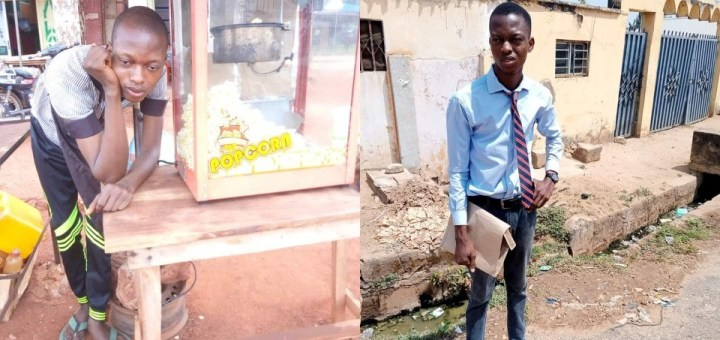 Graduate who relocated to Lagos to succeed laments after spending five years selling Popcorn