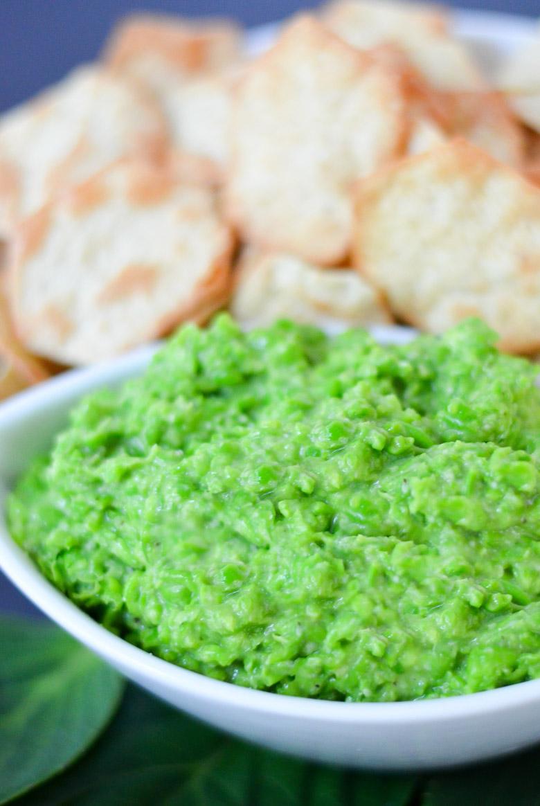 Easy Pea Pesto w. Fresh or Frozen Peas