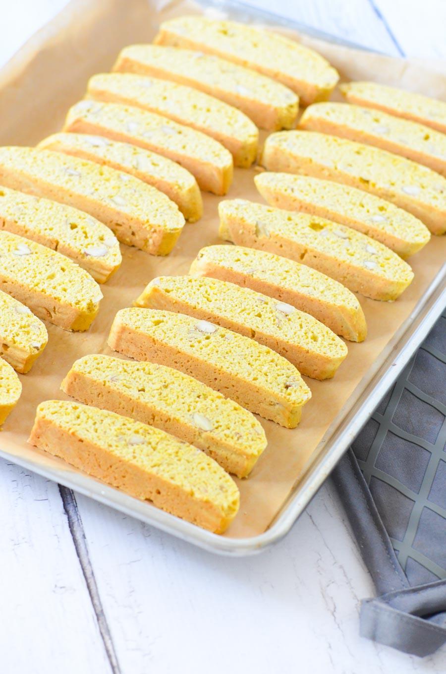 Easy Almond Biscotti with Lemon - Lowfat