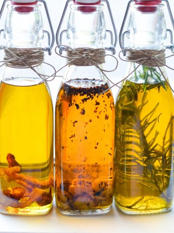 Homemade Gift Idea - Infused Olive Oils