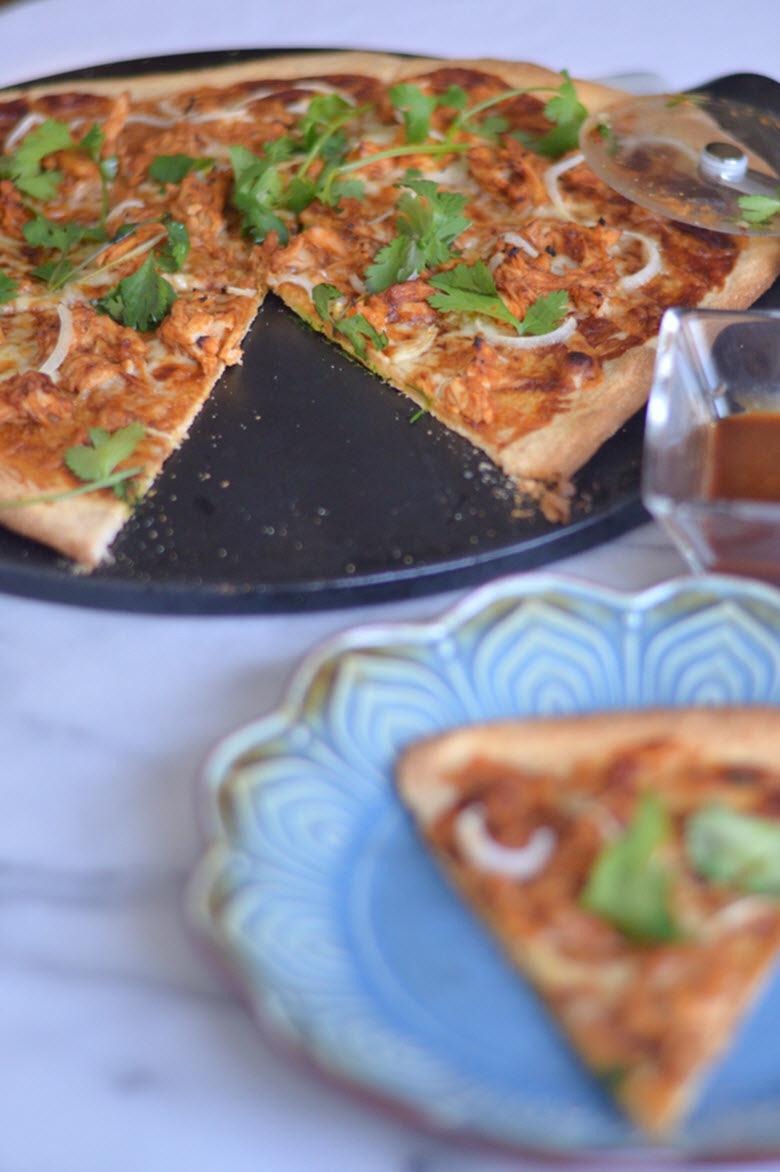 Thai Barbeque Chicken Pizza
