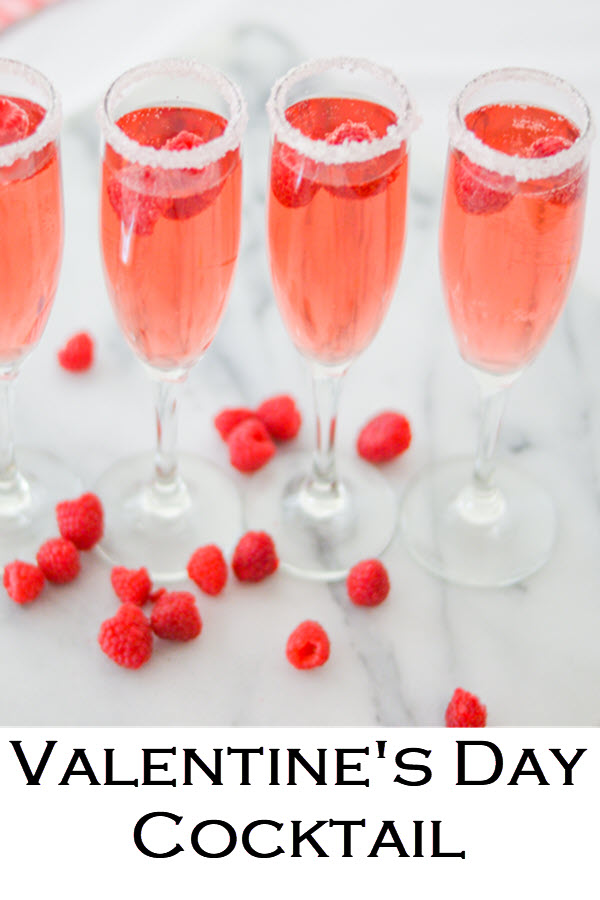 The perfect Valentine's Day Cocktail. Easy Raspberry cocktail with rose. This pink, red drink recipe is perfect for Galentine's Day and Valentines! #LMrecipes #drinks #drinkrecipe #cocktail #rosewine #raspberry #valentinesday #galentinesday #recipe #mixology #cocktailhour