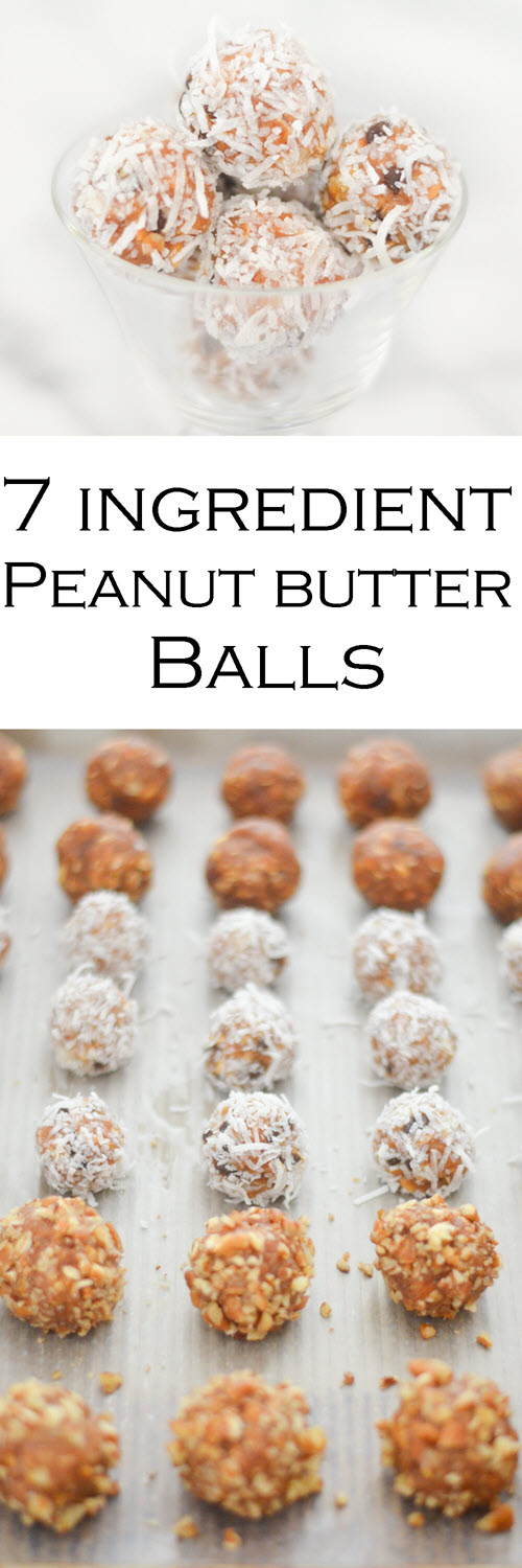 Easy Peanut Butter Balls Recipe. These protein bites are a no cook snack that's plant-based. Even kids will love these healthy snacks. #LMrecipes #peanutbutter #peanutbutterrecipes #protein #proteinrecipes #proteinbites #healthy #healthysnacks #foodblog #foodblogger #vegan #vegetarian #plantbased