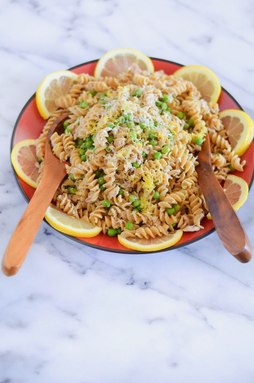 Garlic + Lemon Tuna Pasta