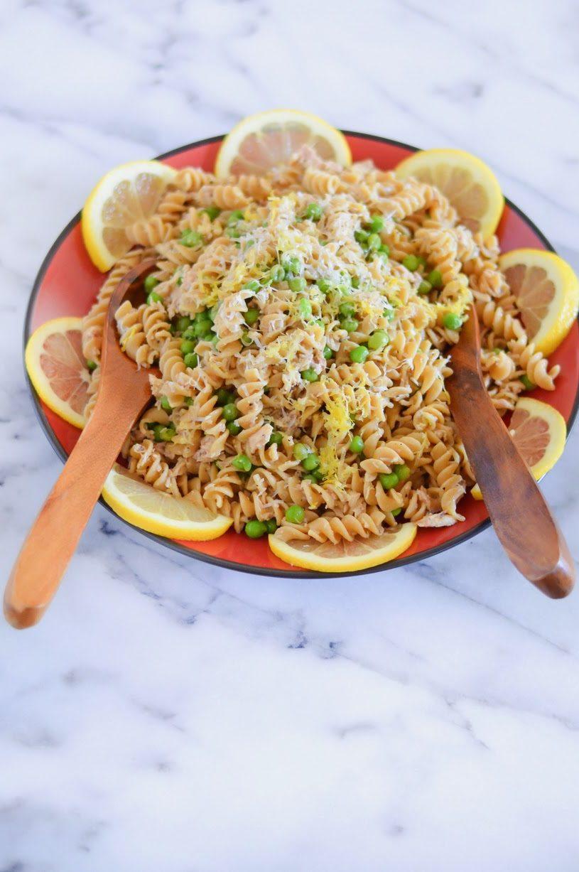Garlic + Lemon Tuna Pasta