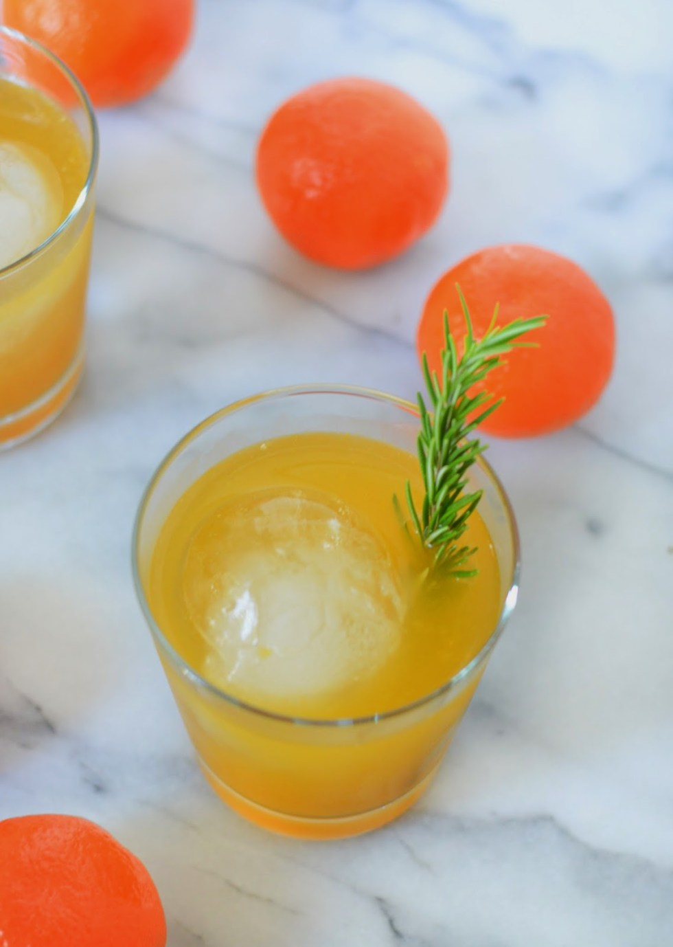 Tangerine + Rosemary Neapolitan Cocktail