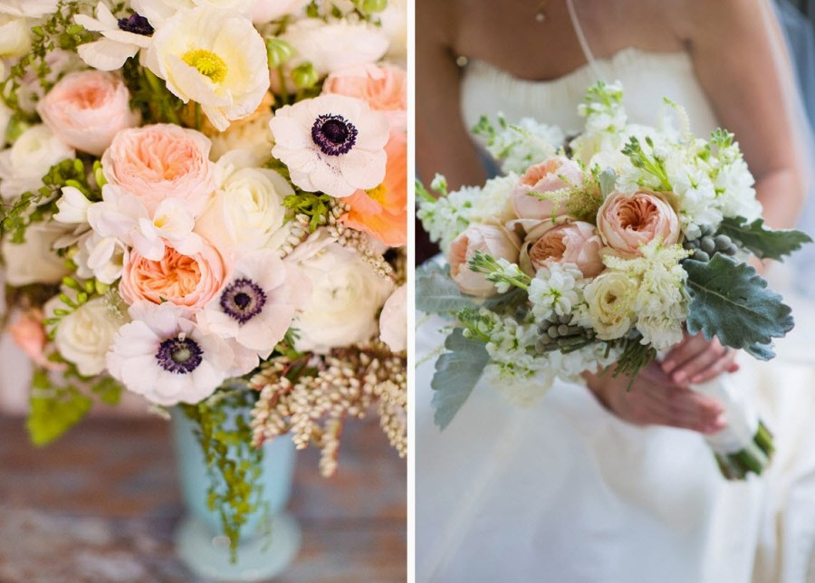 Peach Wedding Flower Bouquet Ideas | Luci\'s Morsels