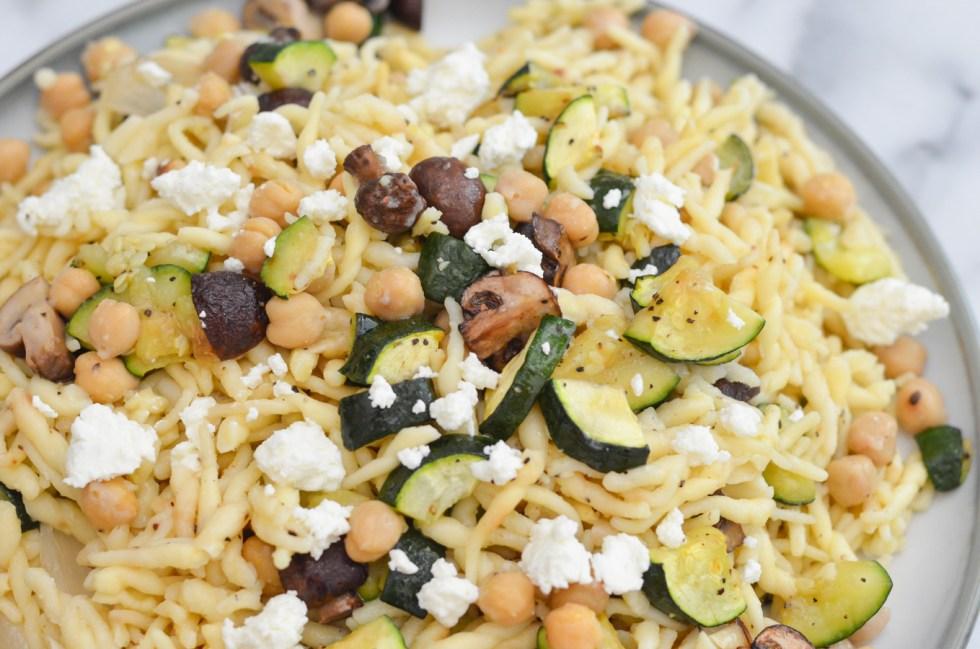 ROven Roasted Vegetable Pasta   Easy, Vegetarinn Weeknight Dinner Recipe