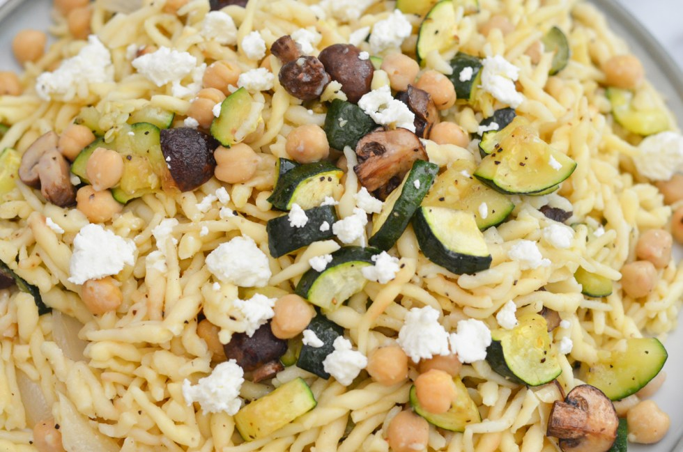 Oven Roasted Vegetable Pasta   Easy, Vegetarian Weeknight Dinner Recipe