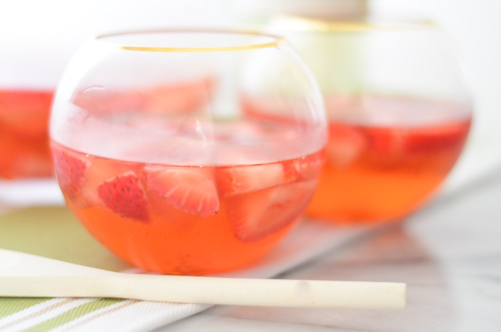 Strawberry Ginger Pinot Grigio Sangria
