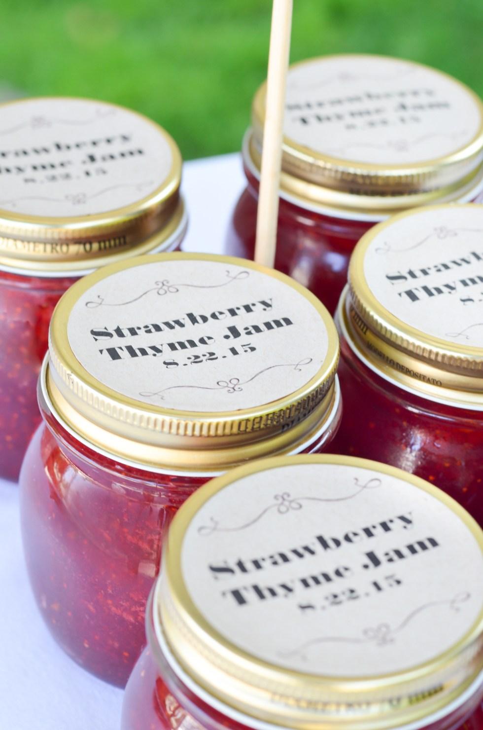 Homemade Jam Wedding Favors Recipe + Supplies | Luci\'s Morsels
