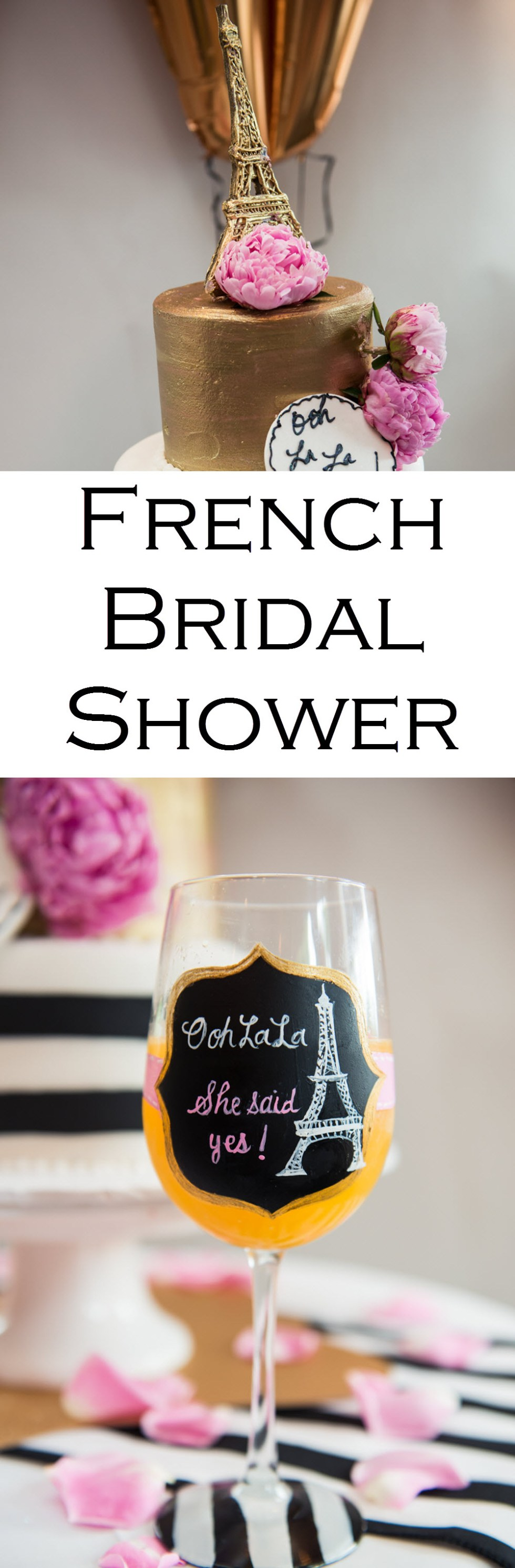 French Themed Bridal Shower Photos, Games, + Decor Ideas